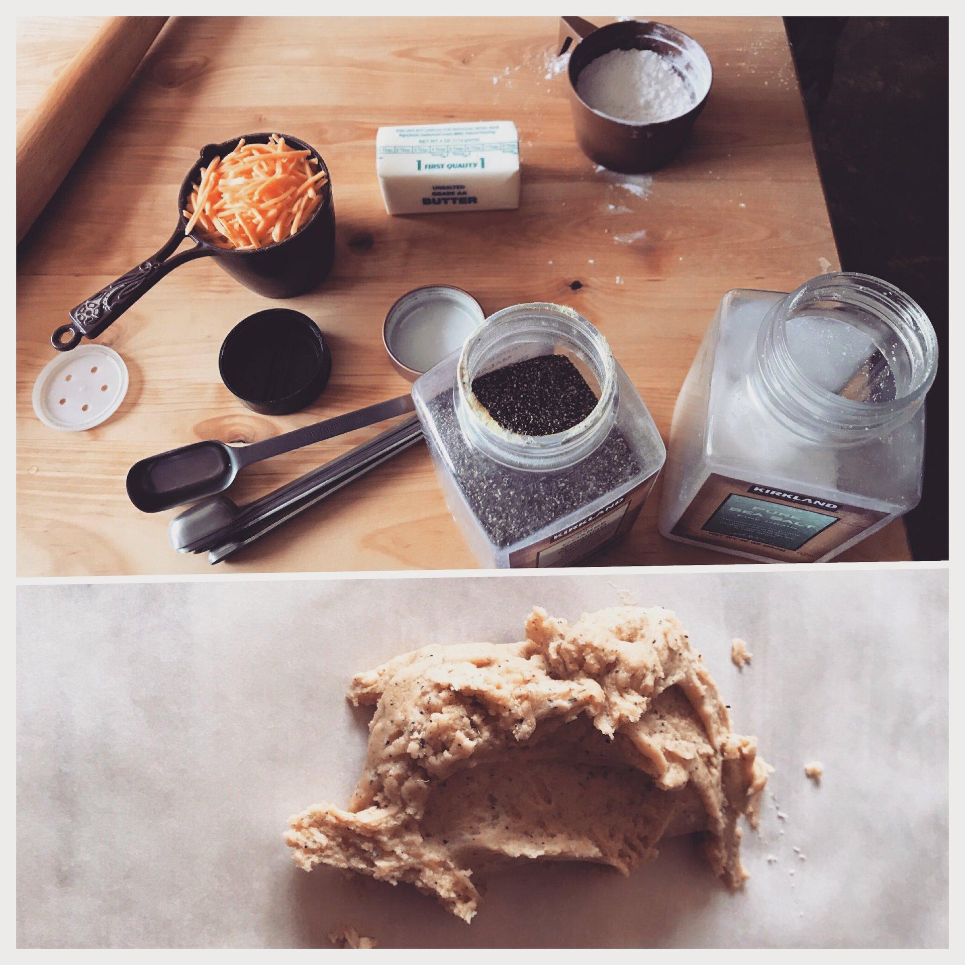 Cracker ingredients & dough