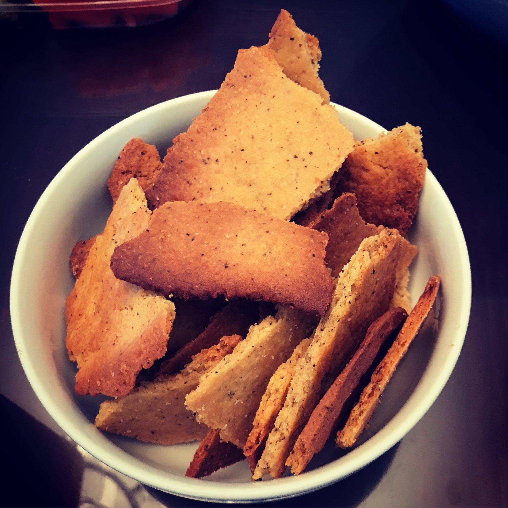 Cheddar-black pepper crackers
